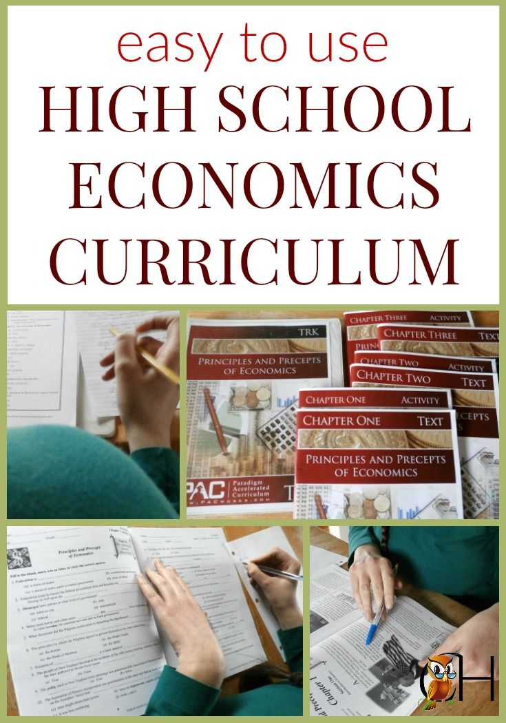 Paradigm Accelerated Curriculum offers an easy to use high school economics curriculum for teenagers. See for yourself what it offers your high school teen!