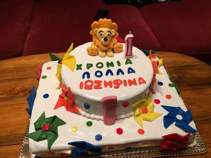 #first_birthday #cake #pinwheels #fisher_price _lion #chocolate_cake #glykathytai