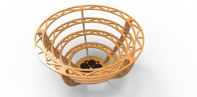 3DPUZZLE: WOODCRAFT 3D PUZZLE - FRUIT BASKET