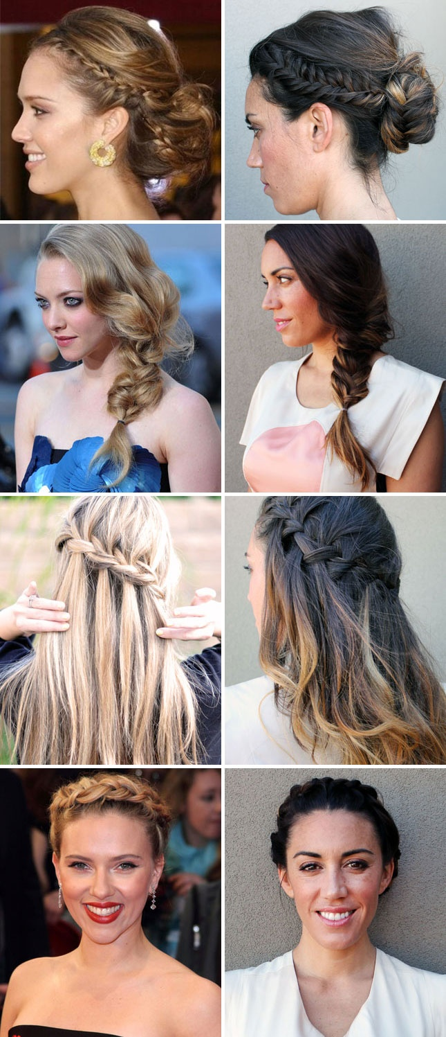 We're nuts about braids! Here are 10 looks inspired by the red carpet, Pinterest, and even some of our DIY projects.: Hair Styles, Plait Hairstyles, Designer Hairstyles, Red Carpet, Diy Braids, Carpet Braids, Evening Hairstyles, Diy Projects