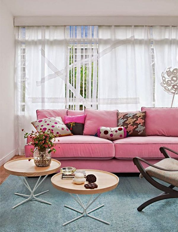24 best Sofá Rosa images on Pinterest | Pink sofa, Living room and ...