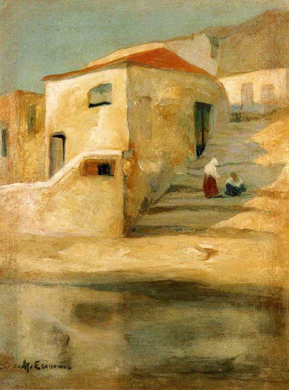 .:. Οικονόμου Μιχαήλ – Michail Oikonomou [1888-1933] Σπίτι με σκαλοπάτια