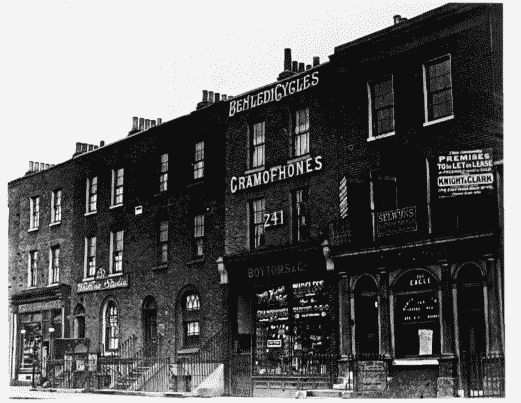 East India Dock Road Nos 235–243 (odd), left to right, built about 1845–8, in c1930