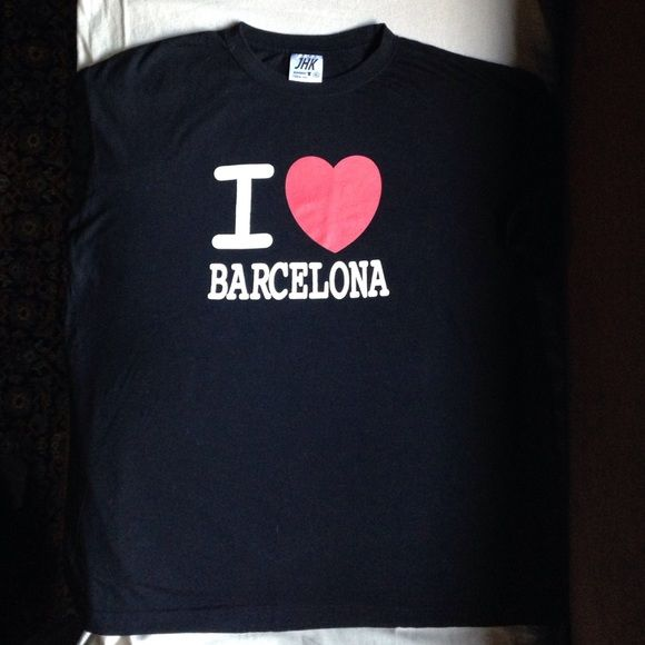 """I Love Barcelona"" T-Shirt Great shirt! Excellent condition!! Tops Tees - Short Sleeve"