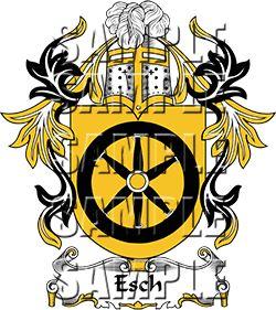 Esch Family Crest apparel, Esch Coat of Arms gifts