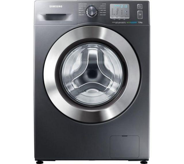 #Samsung #ecobubble washing machine in graphite grey