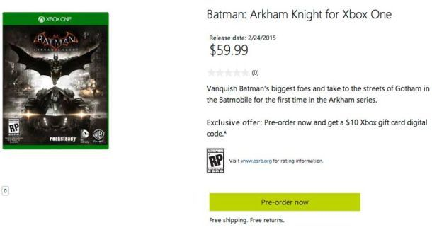 Batman: Arkham Knight Release Date Possibly Revealed - http://videogamedemons.com/news/batman-arkham-knight-release-date-possibly-revealed/