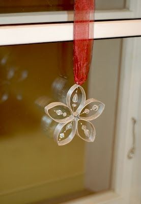 toilet paper roll ornament with beads