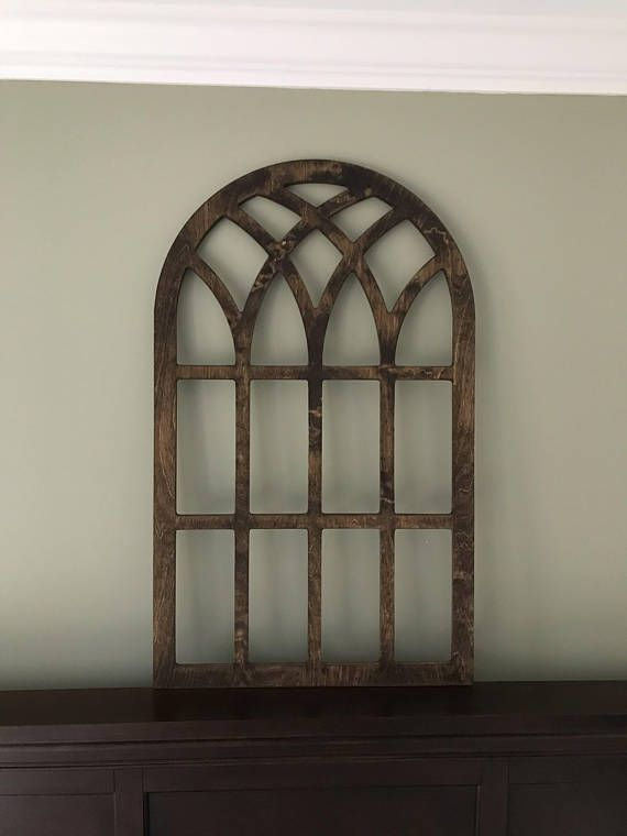 Arched Window Frame Faux Farmhouse Arched Stained Custom Arch Shabby Chic Wall Hanging Wall Decor Paintable Shutter Vintage Inspired Faux Window Farmhouse Frames Vintage Shutters