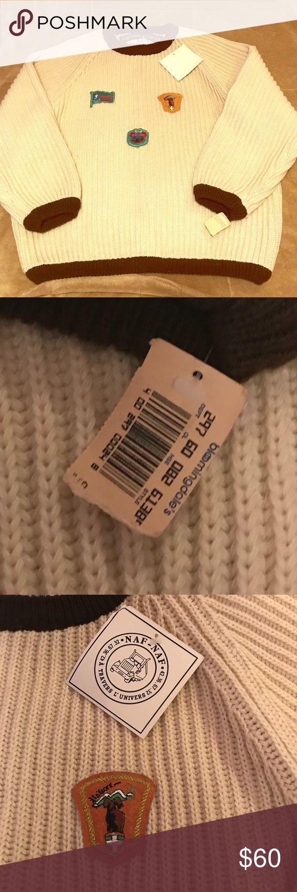 NAF NAF Vintage Oversized Sweater 80's Vintage Sweater NWT NAF NAF Sweaters