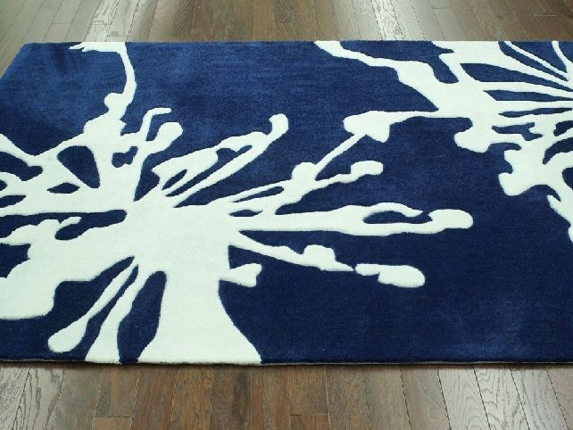 navy blue area rugs contemporary : Rugs Decor and Design Ideas