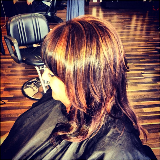 love the color!: Hairstyles, Haircolor, Hilightssalon
