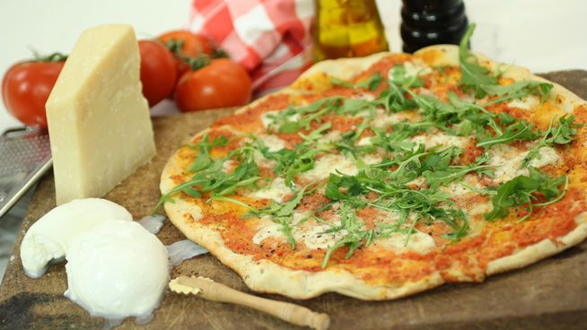 Pizza chorra de 'Robin Food'