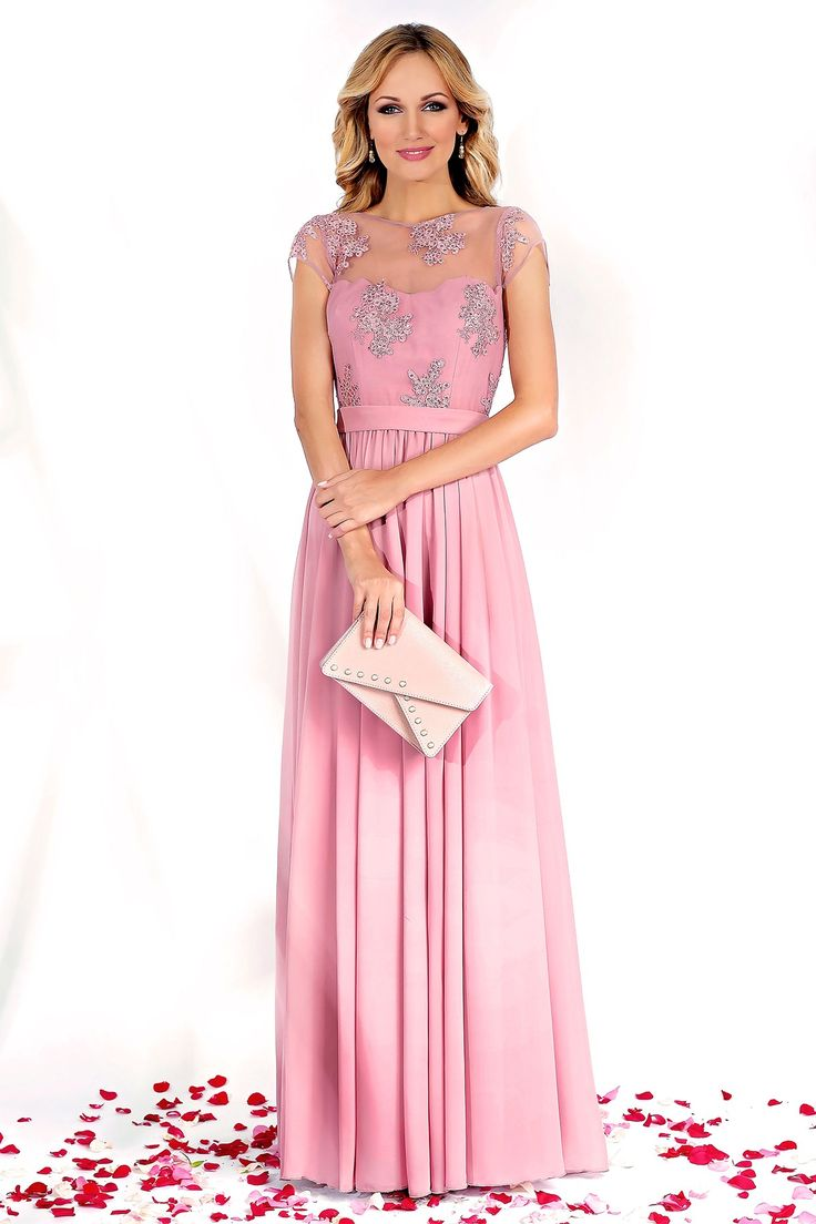 Pink evening gown with precious lace and fine veil :https://missgrey.org/en/dresses/long-erin-dress-made-from-lace-and-veil-powder-pink-erin/543?utm_campaign=august&utm_medium=rochie_erin_roz&utm_source=pinterest_produs