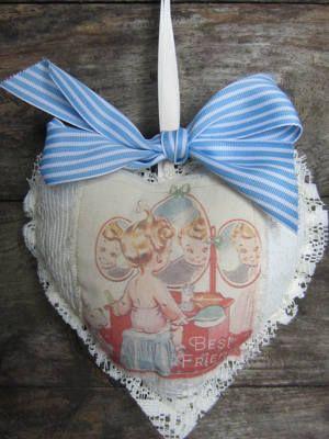 Handmade Vintage Style Heart | Best Friend | Buy Now