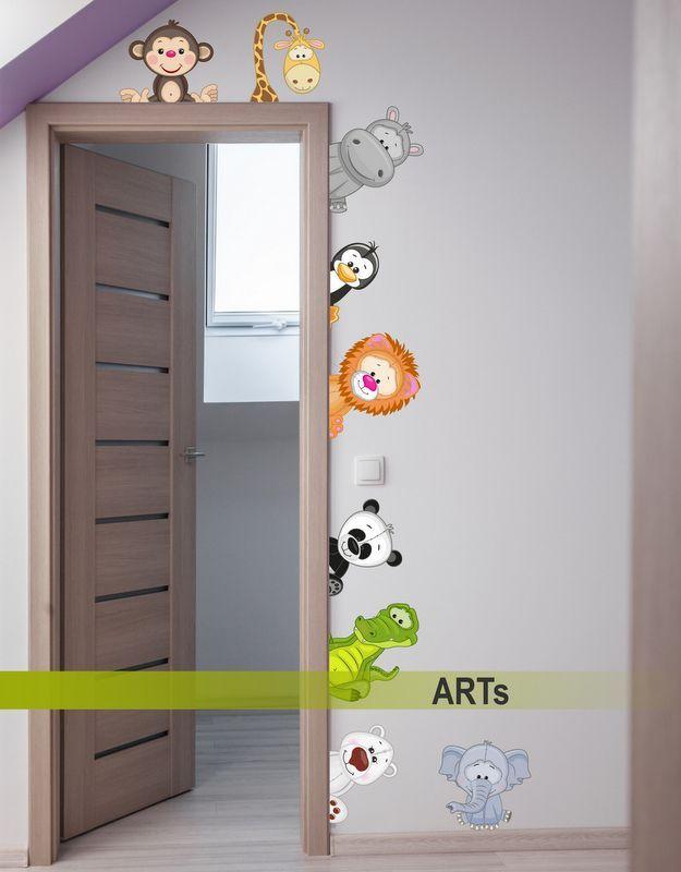 (3591f) #Nálepka na stenu - Zvieratká ZOO #animals #sticker #artsablony