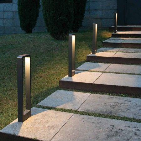 Lampe design DAS métal extérieur gris LED - 5W  LCM04406  - Laurie Lumière