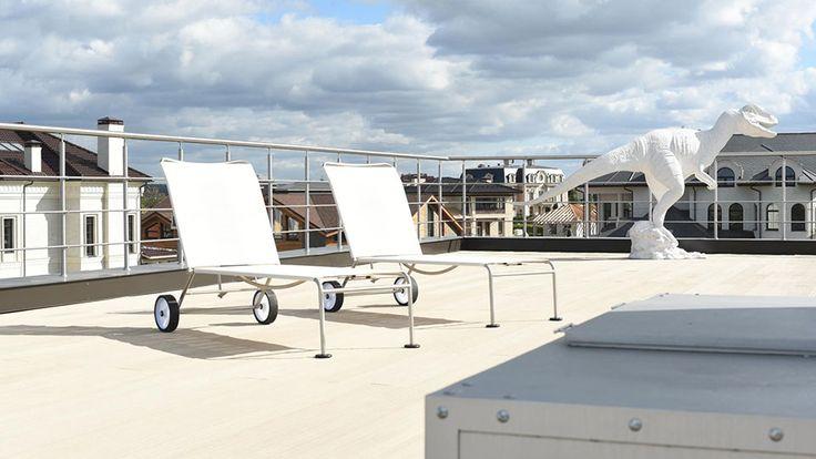 Патио на крыше
