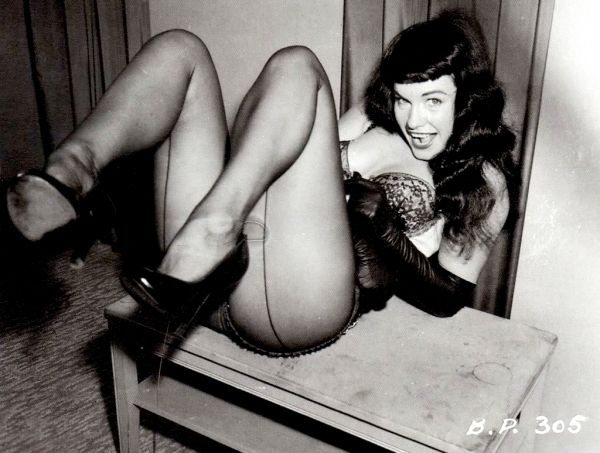 vintage everyday: Bettie Page's black and white photos in bikini by Bunny Yeager