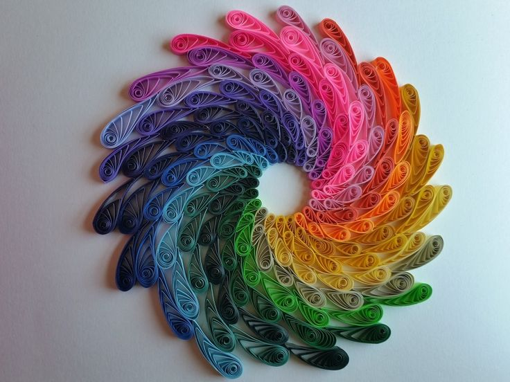 Quilled Rainbow Spiral by artist Stacy Lash Bettencourt of Mainely Quilling in Jefferson, Maine.
