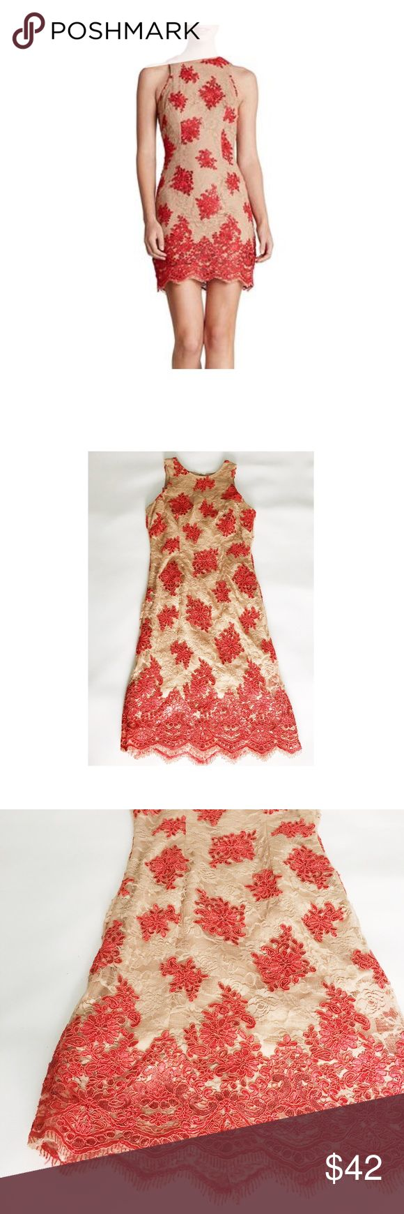 Dress The Population Floral Sequin Dress Size S. Gently used. 100% polyester. Hidden back zip closure. Made in the USA. **First photo is for fitting reference purpose. Floral sequins varies by dresses. ** Dress the Population Dresses Midi