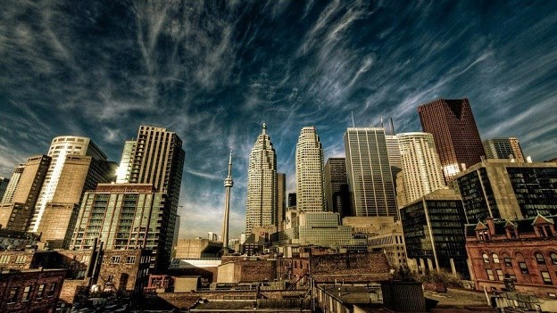 Cool city scape of Toronto