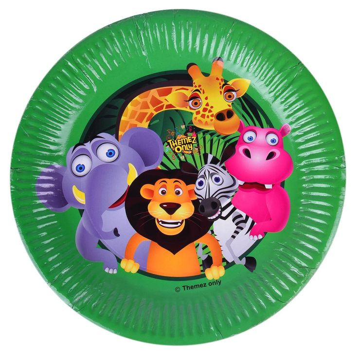 This set of Jungle theme paper plates set would be an excellet choice for yor kids birthday party. The attractive colors and jungle theme print on the plates will loved by children and makes their food and birthday party more enjoyable.