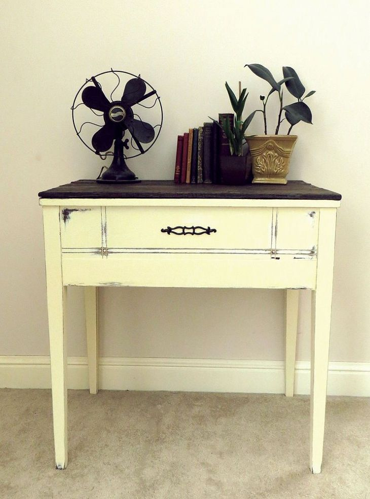 DIY Sewing Table RePurpose - this is the exact sewing table I have. It was my mom's!