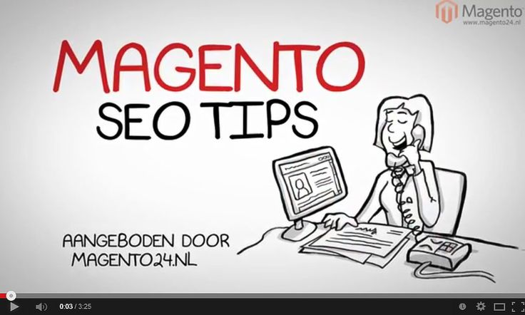 SEO tips/ handleiding voor Magento webshops. https://www.youtube.com/watch?v=vVUFxFPlLTE&feature=youtu.be
