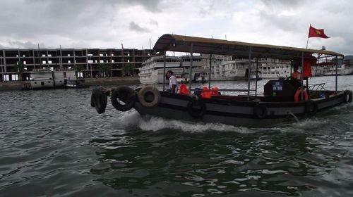 Transfer to shore from the V Spirit boat