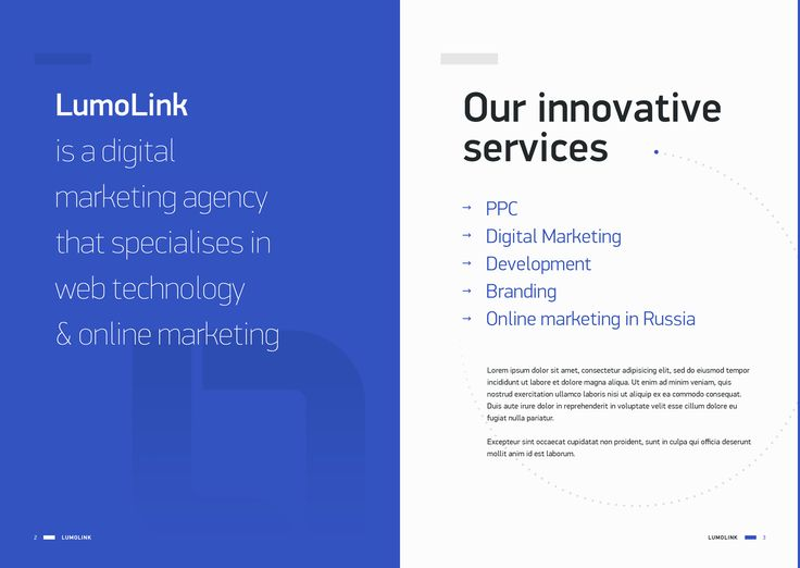 lumolink service brochure Preview Mode - InVision