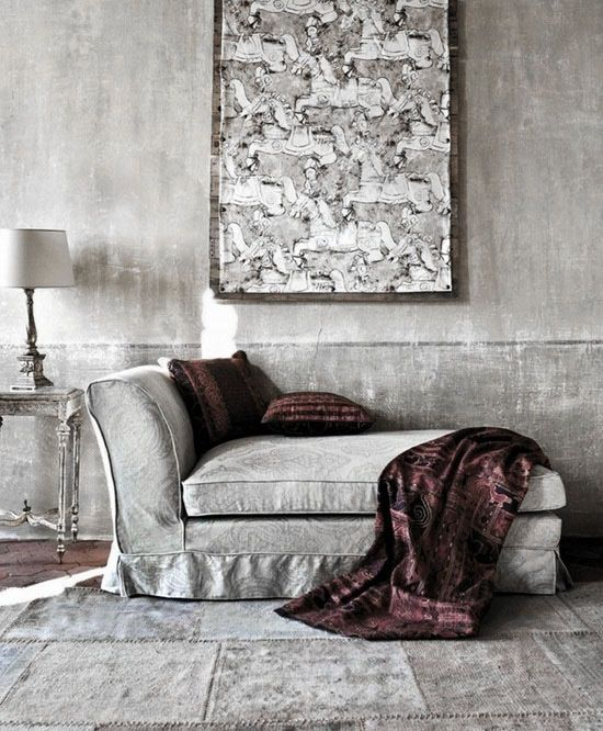 ♅ Dove Gray Home Decor ♅ fainting couch