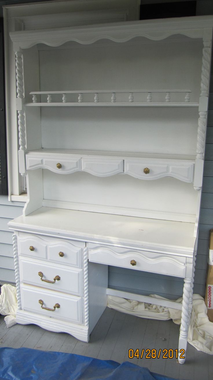 Large White Shabby Chic Desk Amp Hutch Furniture