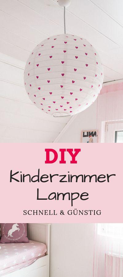 Ideen für das Kinderzimmer – DIY Lampe