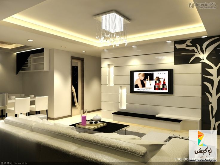 Tv Decorations Living Room Part - 32: Livingroom Design Modern Living Room TV Background Wall Decoration Design  Effect Picture Modern Living Room Tv Background Wall Decoration Design  Effect ...