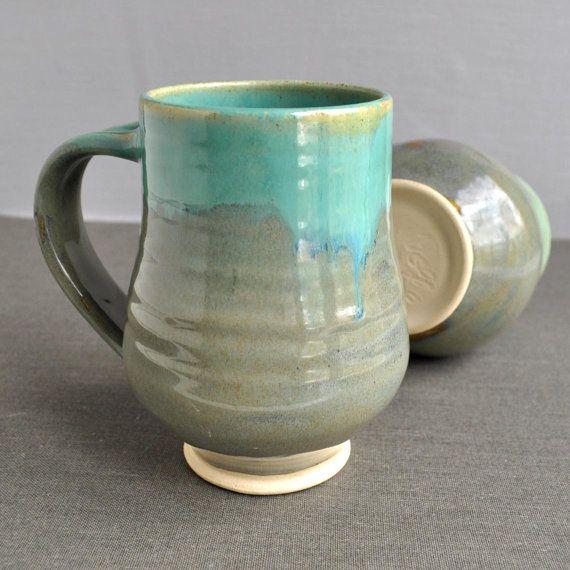 Mug or Beer Stein wheel thrown pottery