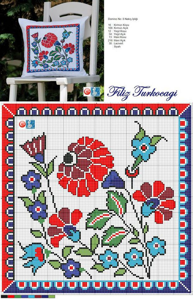 bordado con motivos de la inspiradora de Turquía Filiz Turkocagi - Masters - Feria artesanal, hecho a mano