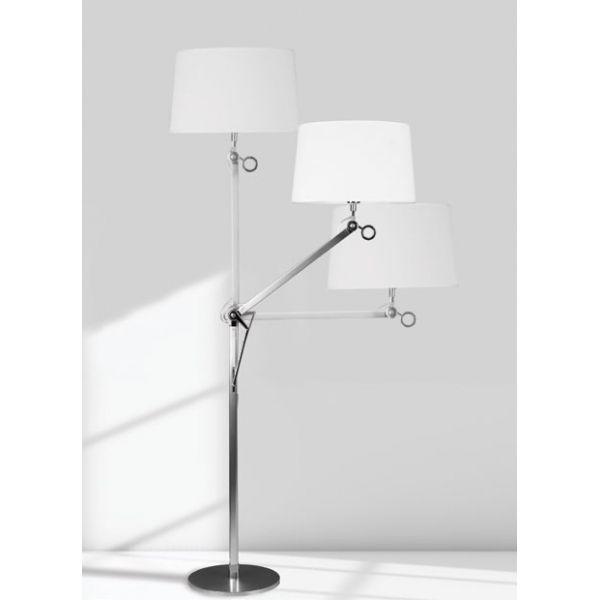 Stojąca LAMPA podłogowa TERRA T0011 Maxlight aluminium biały