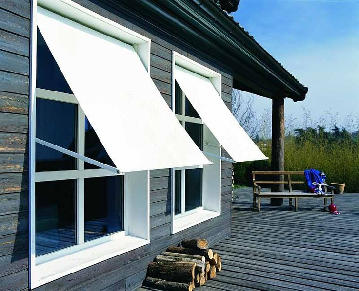 Get ample shades during summer by installing canvas awnings at your home outside.