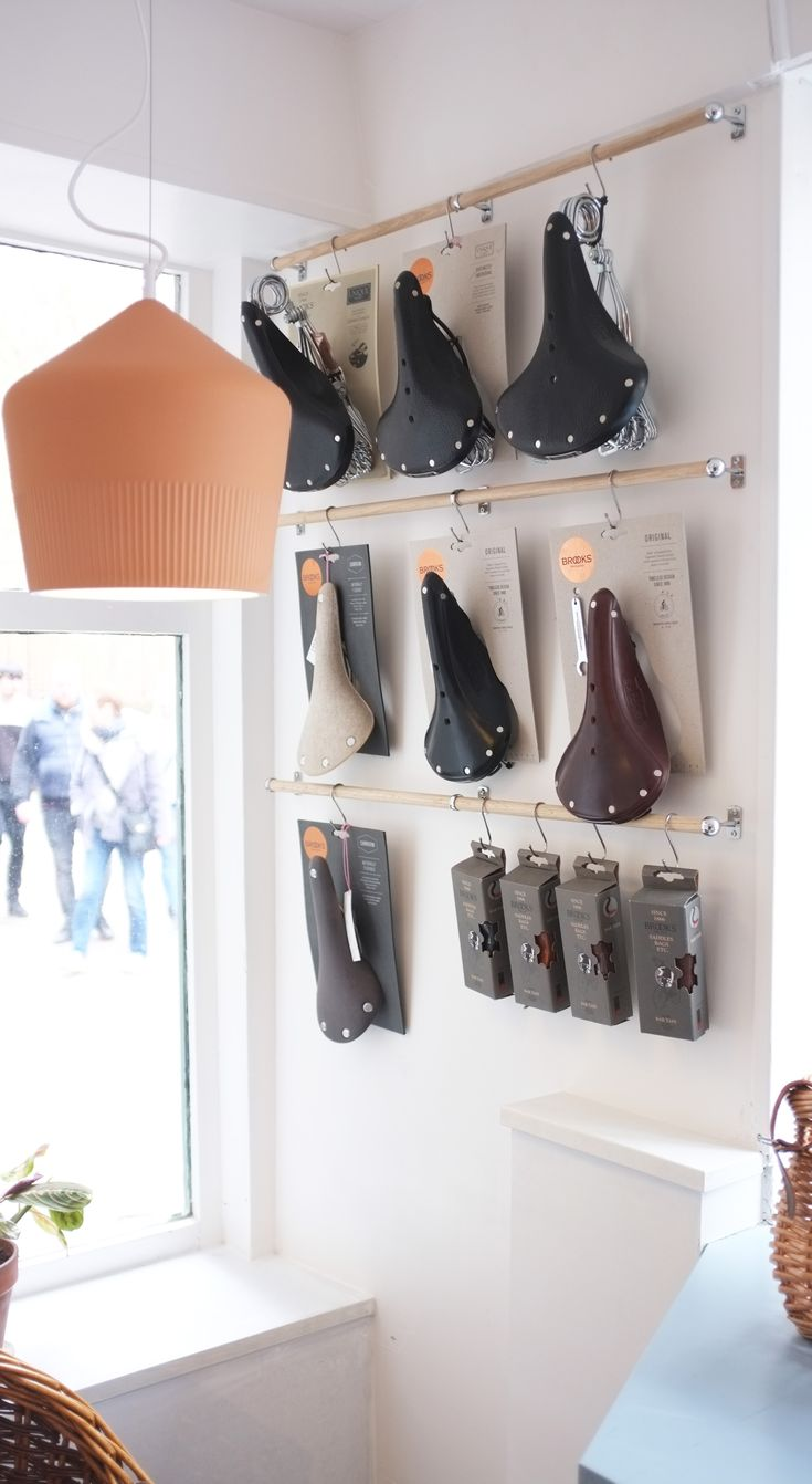 In what's becoming our favourite nook in the shop. Nestled in against the terracotta lights and Brooks saddles.