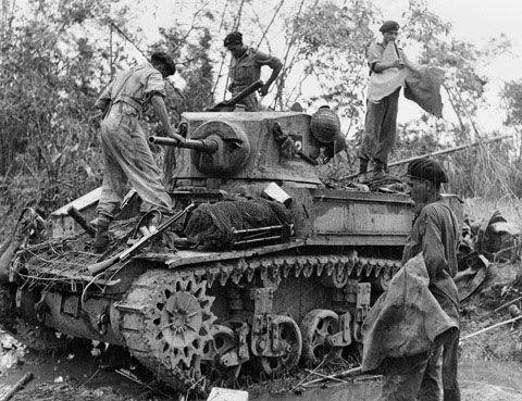 M3 Stuart tank of 7th Light Cavalry, 1944