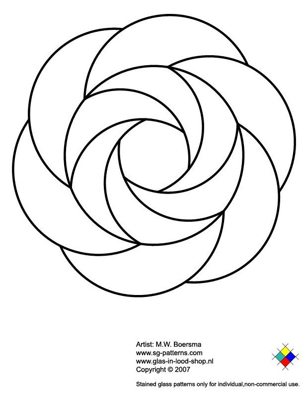 Free Printable Stained Glass Patterns | glass pattern 084 stained glass patterns only for individual non