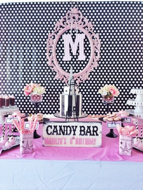 Amazing Pink Poodle in Paris girl birthday party!  See more party ideas at CatchMyParty.com!