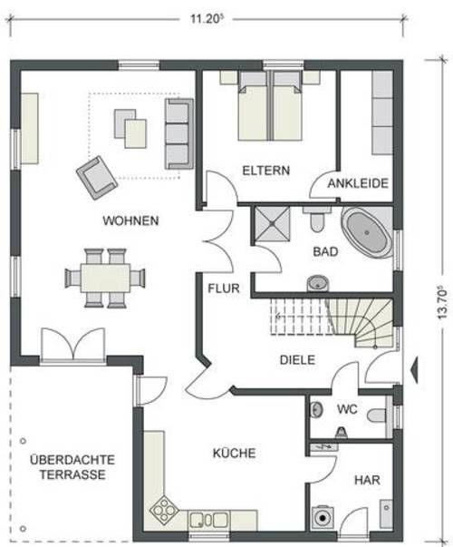 18 best wohen images on Pinterest Bungalow homes, Future house and - badezimmer grundriss planen