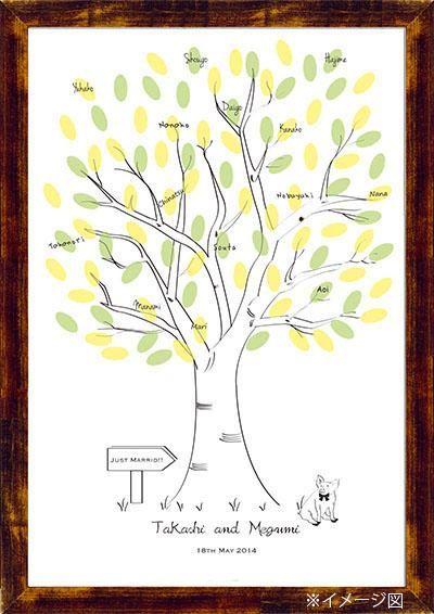 Wedding Tree【Pig】Finger Print ウエディングツリー ぶたさん|その他 結婚式ペーパーアイテムや披露宴のパンフレット形の席次表など。こだわりブライダルのお手伝いトゥルーハートイズプット。