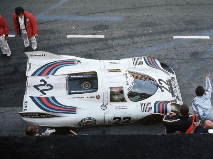 Helmut Marko and Gijs van Lennep, Porsche 917K @ Le mans 24 Hours 1971