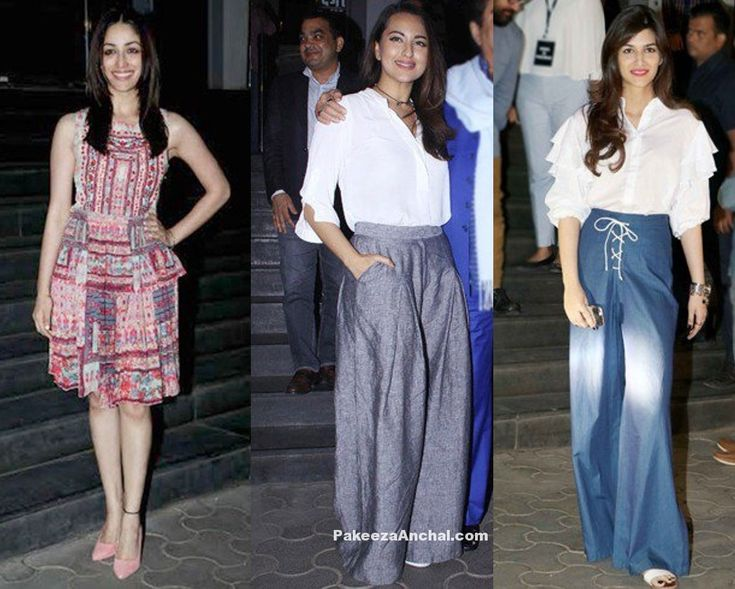 Dangal Screening was done last week before the movie was on the Theatres in Mumbai and All over India. We've seen huge celebrity gatherings for this movie of Aamir Khan.  Yami Gautam in Pink pleated Skirt along with Pink Pumps Sonakshi Sinha in High Waist flared pants and white shirt Kriti...