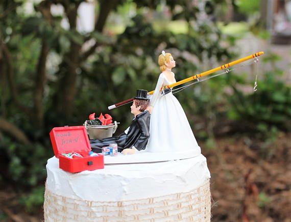 Best 20 Fishing wedding cake toppers ideas on Pinterest Fishing