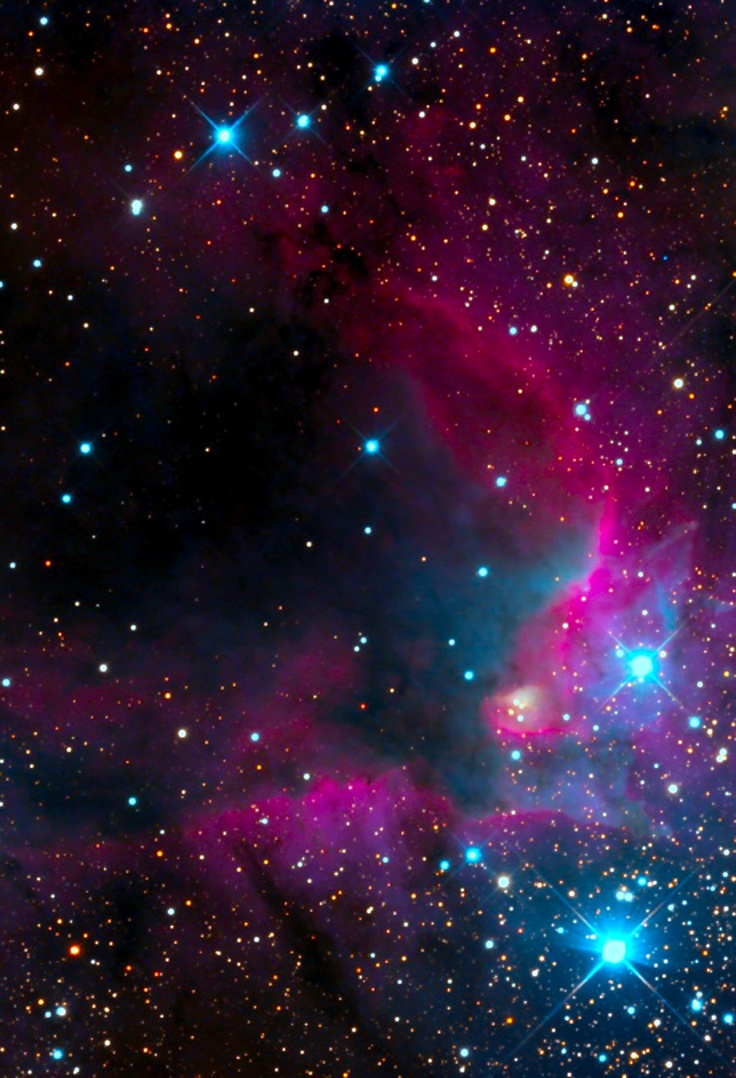 Stellar Indulgence Caldwell 9 The Cave Nebula Copyright Bill McLaughlin 00 LA TIERRA Y MS