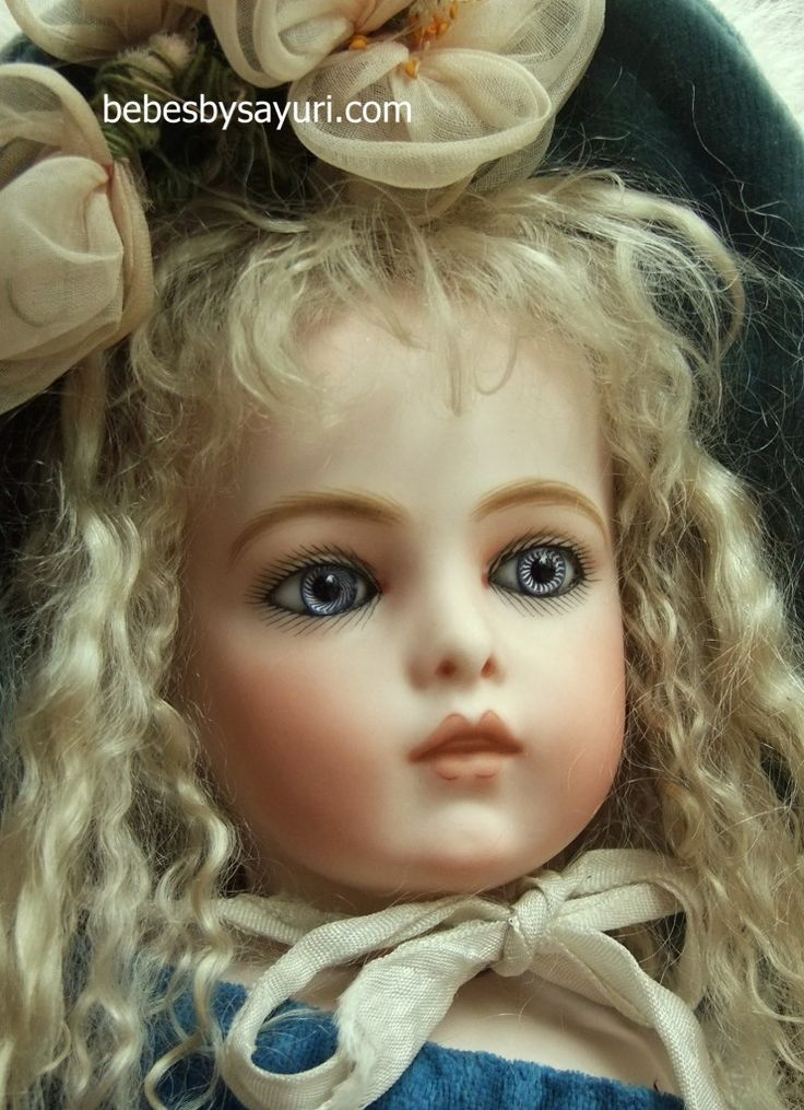 ANTIQUE DOLLS | Bru head #2 with antique eyes - Sayuri makes the MOST beautiful Bebes!!